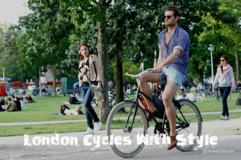 London Cycles in Style Postcards